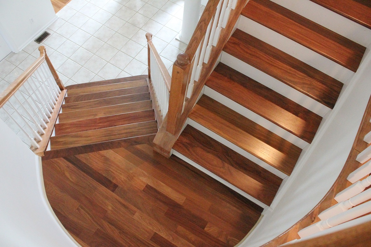 Ziggy 39 s wood floors examples of our work for Home designer stairs with landing